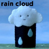rain cloud finger puppet