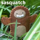 sasquatch bigfoot finger puppet