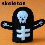 skeleton finger puppet