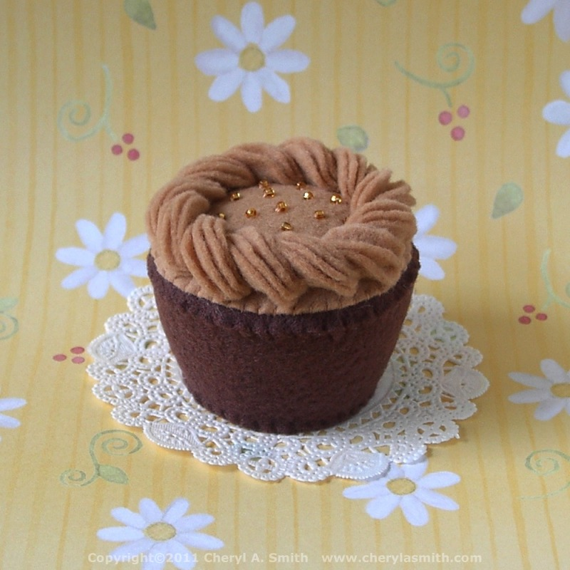 Caramel Frosted Plush Cupcake