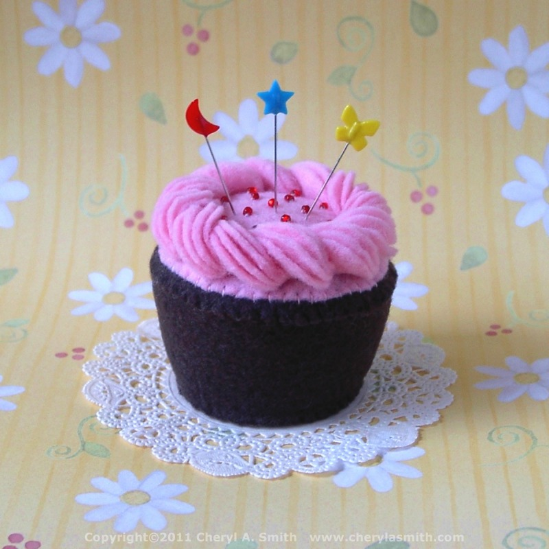 Pink Frosted Plush Cupcake