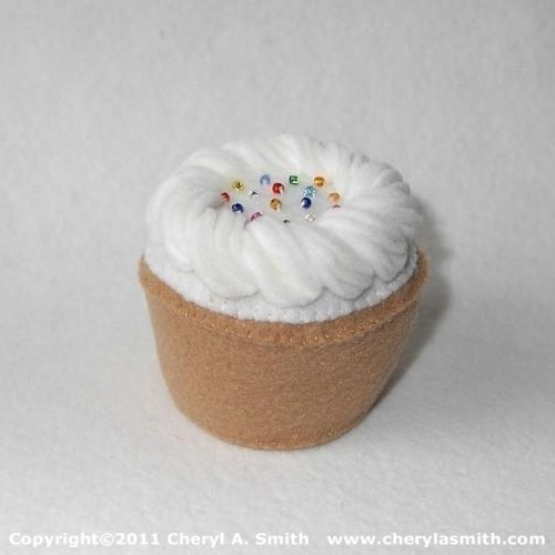 White Frosted Plush Cupcake
